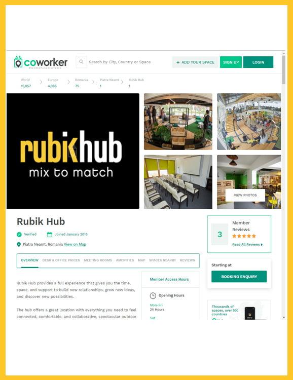 Rubik Hub in coworker